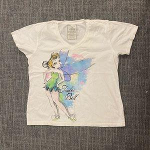 Disney Tinker Bell size XL V-neck t-shirt